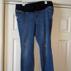 Skinny Low Panel OldNavy Jeans Sz 16 Maternity